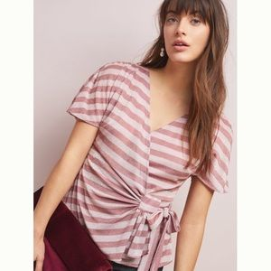 ANTHROPOLOGIE sweetwater top M NWT wrap Eva Franco